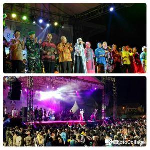 Hiburan Rakyat Berlangsung Sukses, Ribuan Warga Padati Stadion Bakti Karya