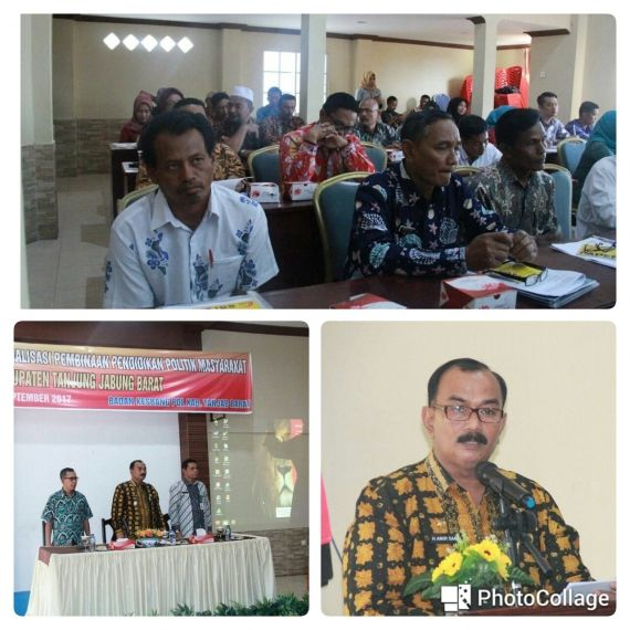 Wakil Bupati Drs. H. Amir Sakib Saat Membuka Sosialisasi Di Hotel Masa Kini Kuala Tungkal, Kamis (07/9/17)