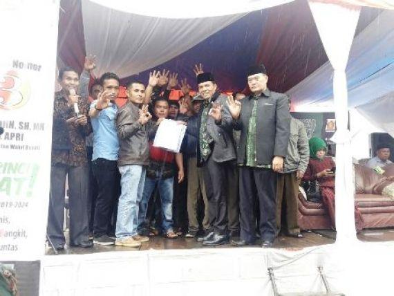 Dukungan pemuda 13 desa gunung tujuh untuk ZA-Arsal