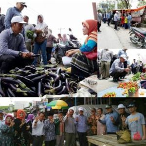 Sisir Wilayah Kayu Aro Barat, ZA-Arsal Blusukan di Pasar Bedeng Delapan