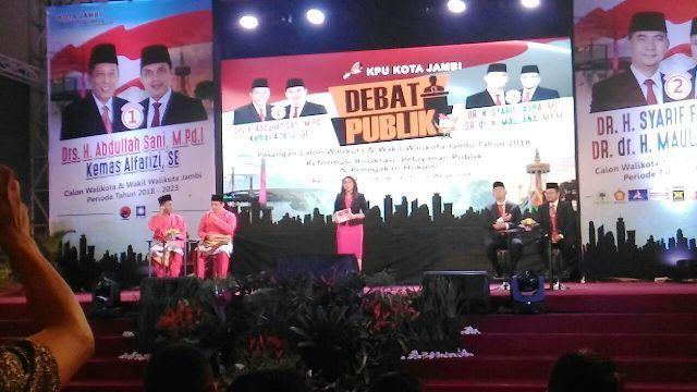 Debat Publik Calon Walikota dan Wakil Walikota Jambi 2018 tahap 1