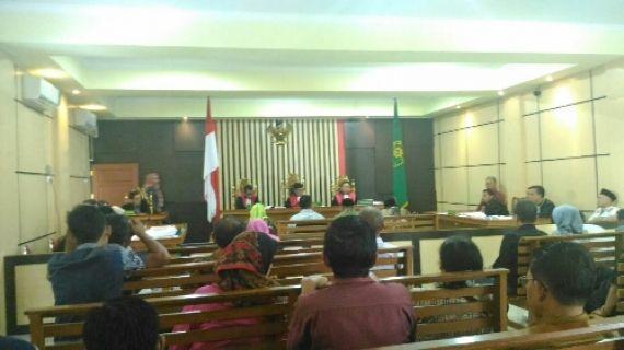 Suasana sidang dugaan korupsi perumahan PNS Sarolangun.