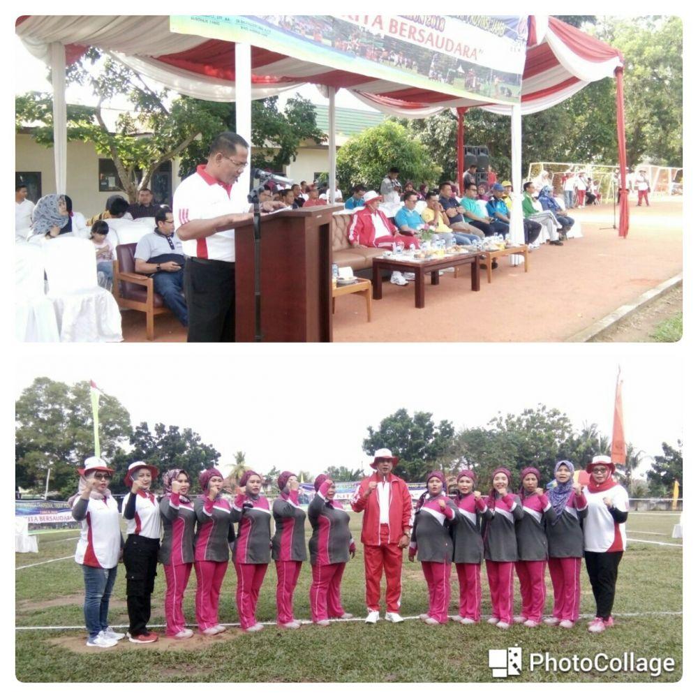 Suasana pembukaan Festival Olahraga Tradisional Tingkat Provinsi Jambi