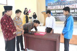 Irwan Aditama Pimpin Himpunan Mahasiswa Sakti Alam Kerinci