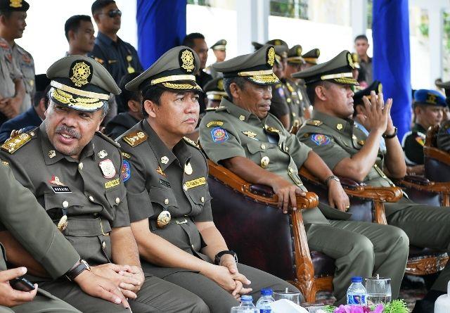 Husairi bersama Wabup Muarojambi BBS, Wabup Sahlan dan Bupati Tebo Sukandar