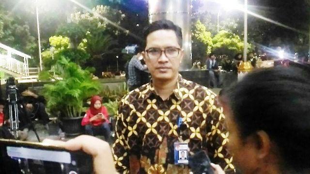 Febri saat ditemui Senin (9/4/2018) di Gedung KPK, Kuningan, Jakarta
