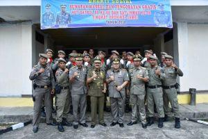 Pjs  Wali Kota Jambi Hadiri Upacara HUT Satpol PP dan Satlinmas Provinsi Jambi