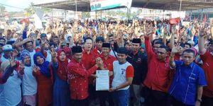Turun di Pemenang dan Tabir, Ketua PDIP Jambi Turun Menangkan Nalim-Khafied di Merangin