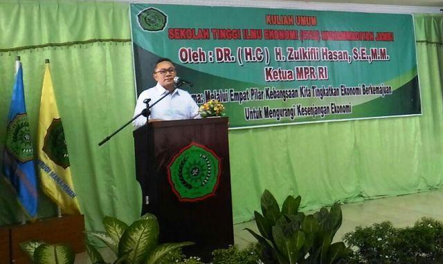 Zulkifil Hasan memberikan kuliah umum di STIE Muhammadiiyah