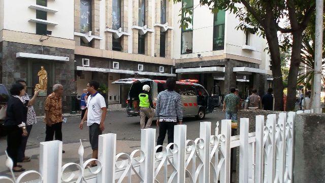 Salah satu lokasi yang diguncang bom di Surabaya pagi ini (13/5/20185