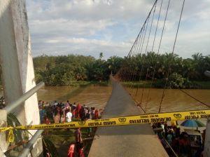 Jembatan Gantung Putus, Penonton Bantaian Kerbau di Rantau Panjang Terluka