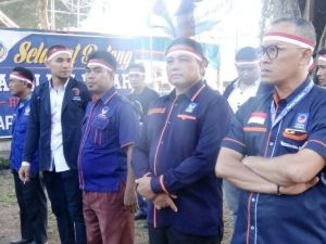 Kenakan Ikat Kepala Merah Putih, DPW Nasdem Apel Siaga Nasional Sikapi Aksi Terorisme
