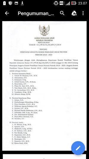 BREAKING NEWS: Ini 5 Komisioner Terpilih KPU Provinsi Jambi