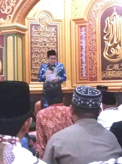 Walikota H. Asafri Jaya Bakri (AJB) saat memberikan sambutan