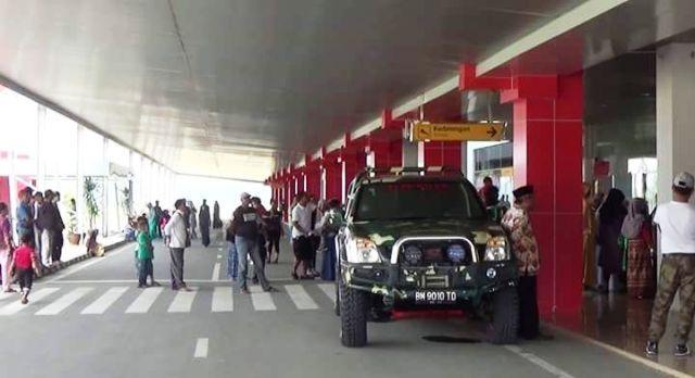 Suasana padat di Bandara Muara Bungo