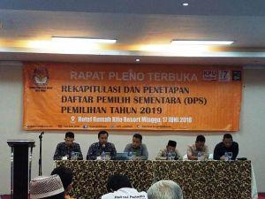 DPS Pileg Naik 8.129 dari DPT Pilwako