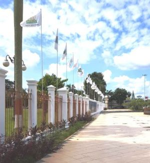 Bendera 34 Provinsi se Indonesia Berkibar di Depan Kantor Gubernur Jambi