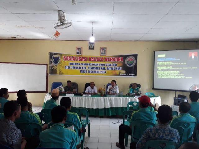 Sosialisasi bahaya narkoba di Desa Sarasah