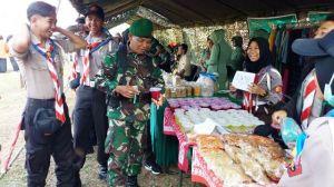 Pramuka Meriahkan Bazar Dalam Rangka Pembukaan TMMD Ke-102