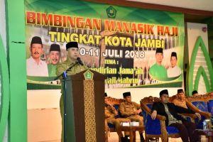 Buka Bimbingan Manasik Haji, Fasha Berbagi Pengalaman Kepada Calon Haji Kota Jambi