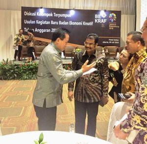 Hadiri FGD Bekraf, SAH Paparkan Kunci Sukses Pengembangan Ekonomi Kreatif Di Tanah Air