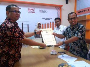 Musthafa Luthfi Resmi Mendaftar ke KPU