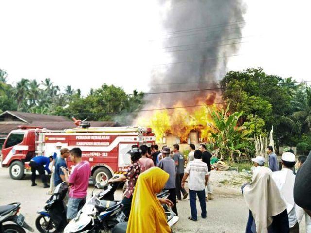 Kebakaran yang terjadi di Rantau Panjang