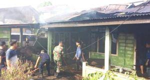 Rumah Bedeng di Bungo Dilalap Sijago Merah