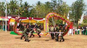 Pertunjukan Barongsai Naga Doreng Ramaikan Desa Bonomerto