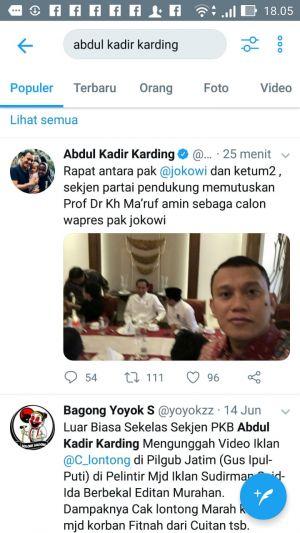 Sekjen PKB Sebut Cawapres Jokowi Ma'ruf Amin