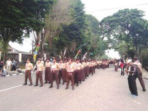 3.224 Siswa Kota Jambi Ikuti Lomba Gerak Jalan Indah Untuk Peringati HUT Pramuka