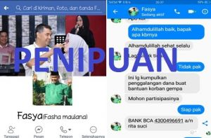 Awas Penipuan...Nama Walikota Fasha Dicatut Minta Bantuan Gempa Lombok
