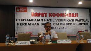 Faktualisasi Dukungan Calon DPD RI Selesai, Sanusi: Penetapan Oleh KPU RI