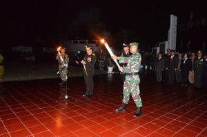 Kapolda Jambi Pimpin Upacara Renungan Suci di Taman Makam Pahlawan Dini Hari