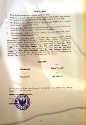 Soal Parodi #2019GantiPresiden, DKPP RI Rehabilitasi Nama Sanusi, Komisioner KPU Provinsi Jambi