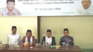 Di Hadapan Pengurus NU se Provinsi Jambi, Kiai Ma'ruf Amin Izin Maju Cawapres
