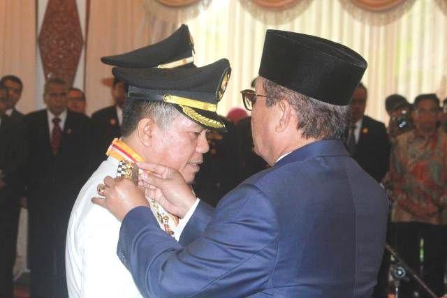 Plt Gubernur Jambi Fachrori Umar Lantik Al-Haris - Mashuri sebagai Bupati dan Wakil Bupati Kab Merangin Periode 2018-2023