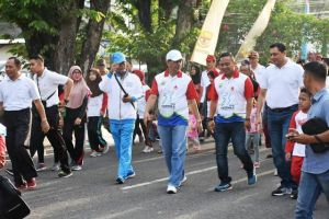 Dianto Apresiasi Jalan Sehat Ayo Olahraga Diskepora Provinsi Jambi