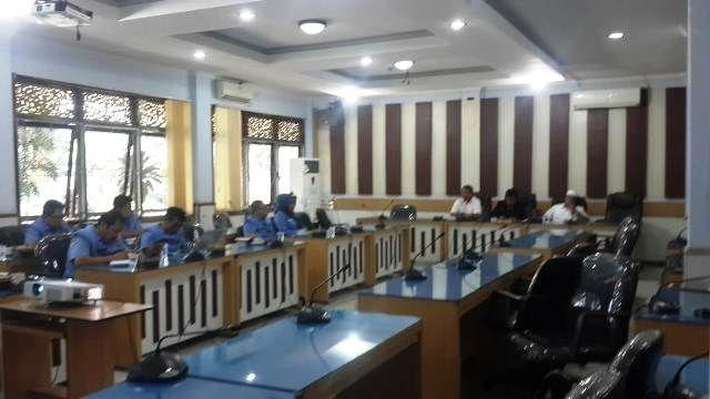 Suasana hearing di DPRD Kota Jambi