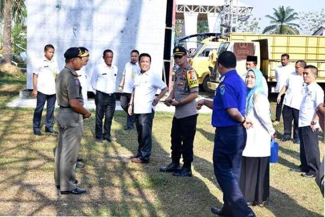 Syarhisah saat turun ke Lokasi pada Rabu (10/10/2018)