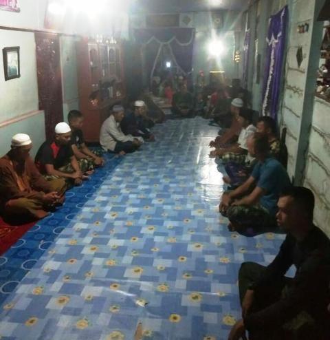 Satgas TMMD berkunjung ke rumah warga