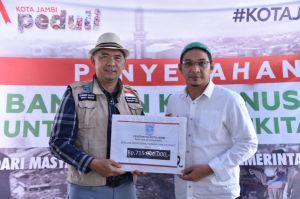 Duo Fasha Bertemu, Pemkot Jambi Serahkan Bantuan Gempa Palu