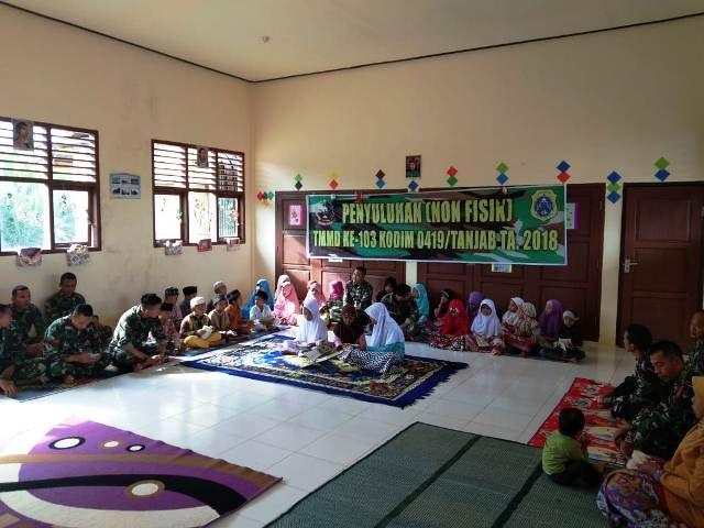 Satgas TMMD Yasinan dan Tahlilan Bersama Siswa SD Negeri 64