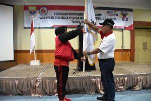 Ratusan Atlet Jambi Resmi Dilepas Untuk Bertanding di Popwil I Sumatra di Aceh