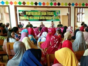 Sosialisasi Bahaya Karhutla di Desa Pangkal Duri, Ini Target dari Satgas TMMD