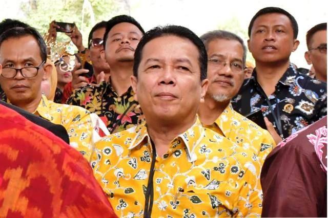 Syahirsah saat mengikuti pembukaan Temu Karya Nasional Gelar Teknologi Tepat Guna (TTG) XX & Pekan Inovasi Perkembangan Desa/Kelurahan (PINDesKel) di Bali