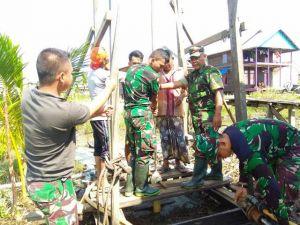 Program TMMD Masuki Hari Ke- 8, Pembuatan Sumur Bor di Desa Pangkal Duri Tinggal Finishing