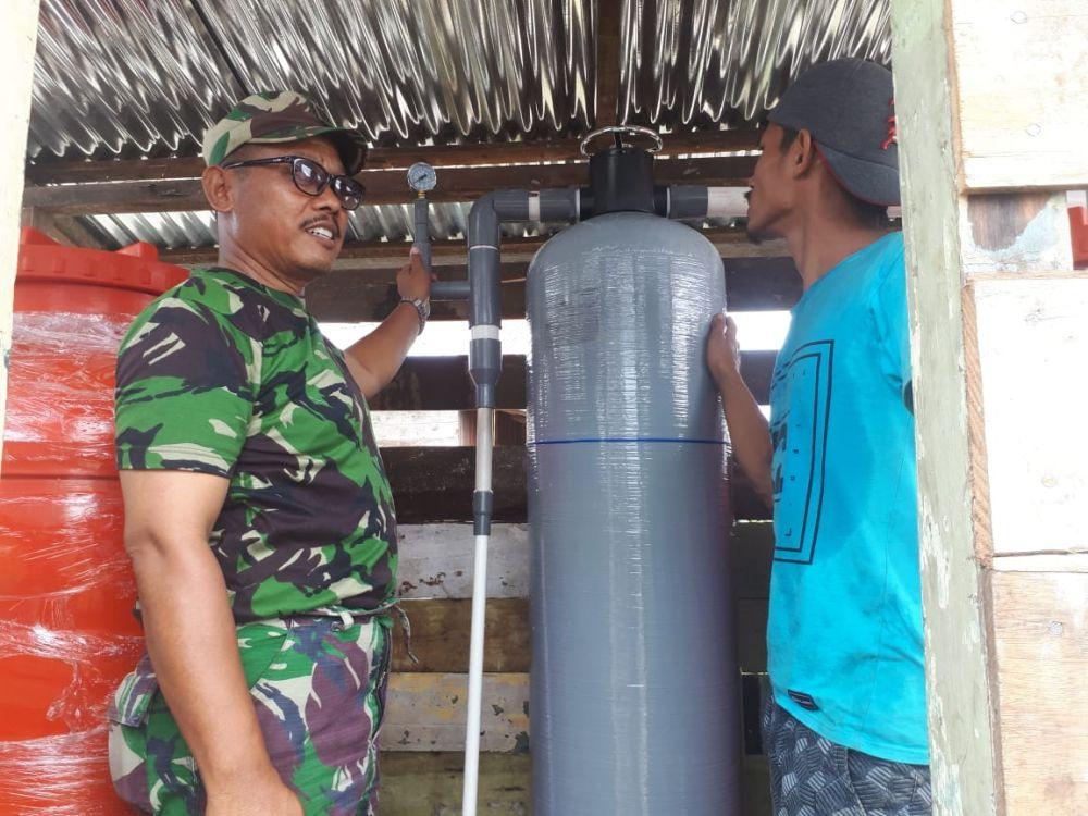 Alat penjernih air yang dipasang