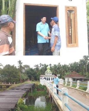 Ihsan Reses ke Tanjabtim Cek Bantuan Jembatan di Sungai Tering dari PKBL