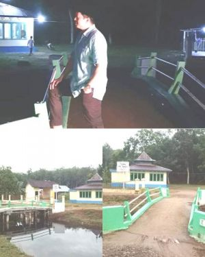 Ihsan Reses di Rantau Rasau, Cek Bantuan Jembatan Penghubung ke Mesjid